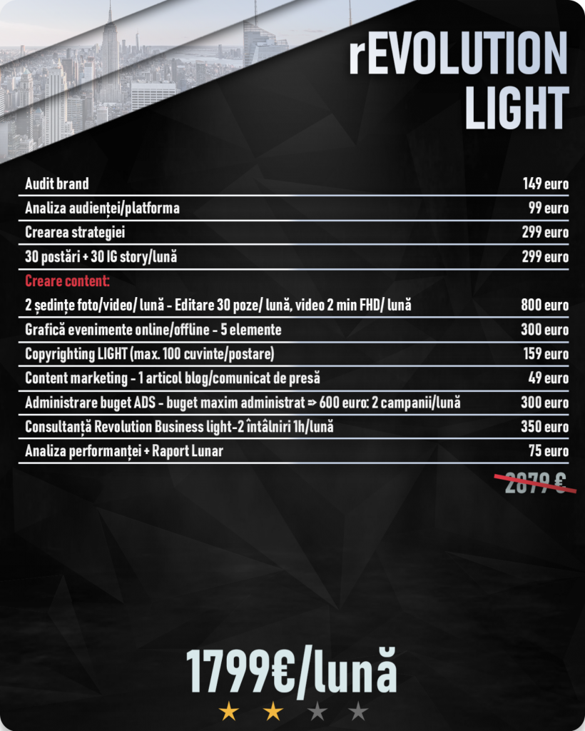 revolution pachet light